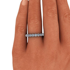 2.00 CTW Round Forever One Moissanite Eternity Band-Bel Viaggio Designs, LLC