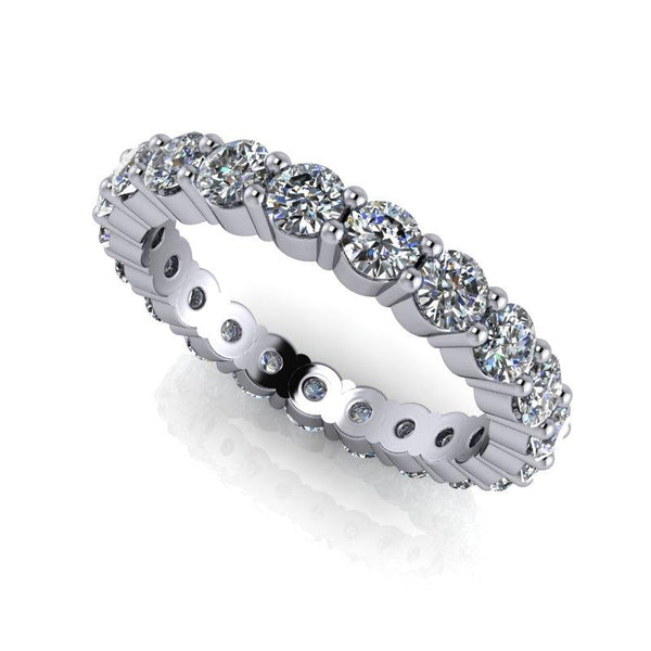 2.00 CTW Round Forever One Moissanite Eternity Band-Bel Viaggio Designs