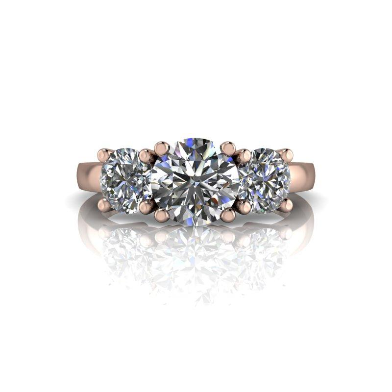 2.00 CTW Three Stone Forever One Moissanite Engagement Ring or Anniversary Ring-Bel Viaggio Designs