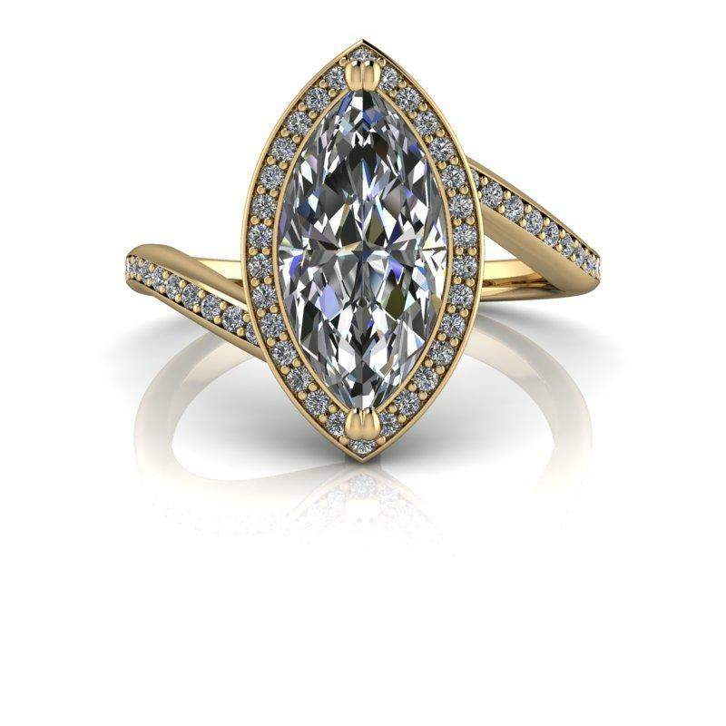 2.04 CTW Marquise Moissanite Engagement Ring-BVD