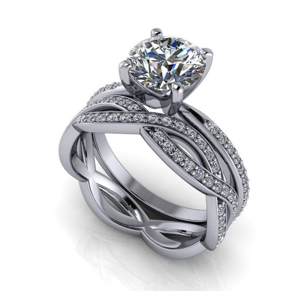 2.05 CTW Round Forever One Moissanite Bridal Set-Bel Viaggio Designs