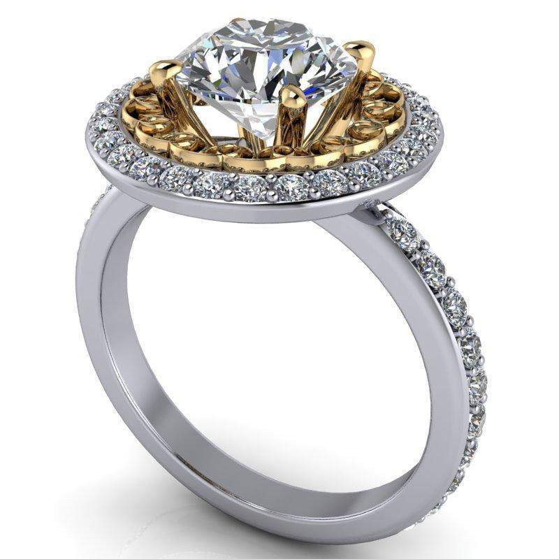 2.10 CTW Stacy K Opulence Limited Edition Forever One Moissanite Halo Engagement Ring-Stacy K-Bel Viaggio Designs-Bel Viaggio®