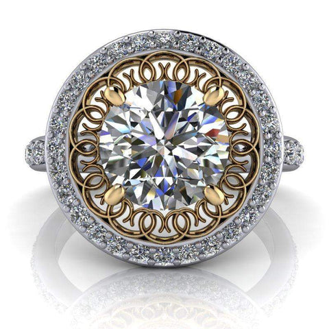 2.10 CTW Stacy K Opulence Limited Edition Forever One Moissanite Halo Engagement Ring-BVD