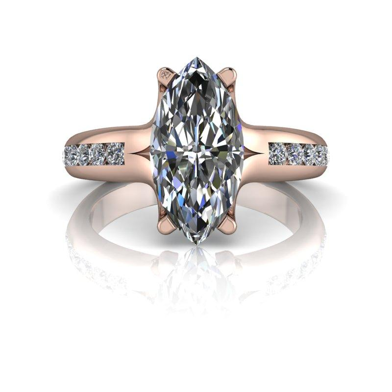 2.12 CTW Marquise Cut Moissanite Engagement Ring, DEF Color-Bel Viaggio Designs