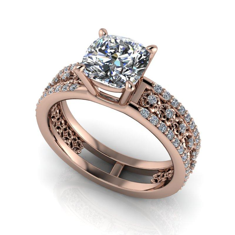 Wedding Website Domain Name Ideas: Moissanite Engagement Ring Unique Diamond Ring 2.12 CTW