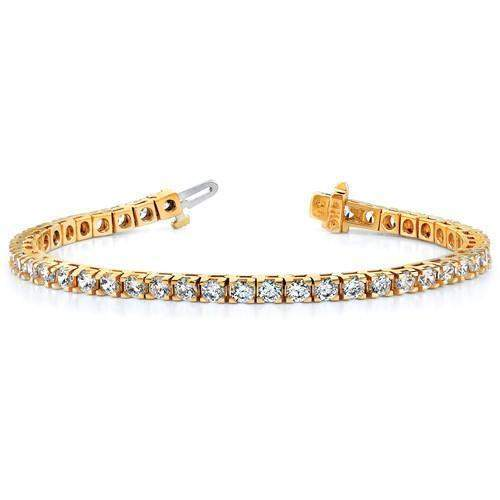 2.18 ctw Diamond Tennis Bracelet 14 kt Gold - Lab Grown Diamond Tennis Bracelet-Bel Viaggio Designs