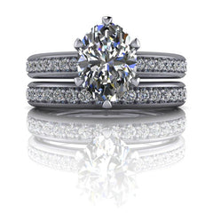 2.23 CTW Oval Forever One Moissanite Bridal Set, Center Stone Options-BVD