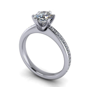 2.23 CTW Oval Forever One Moissanite Bridal Set, Center Stone Options-Bel Viaggio Designs, LLC