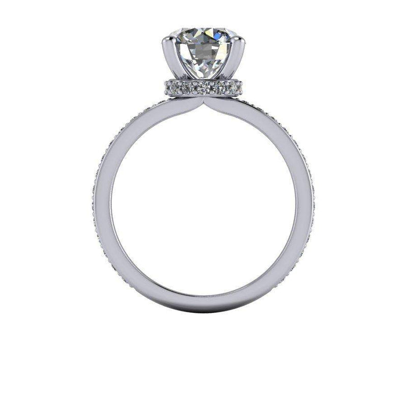 2.24 CTW Moissanite and Lab grown Diamond Engagement Ring-Bel Viaggio Designs