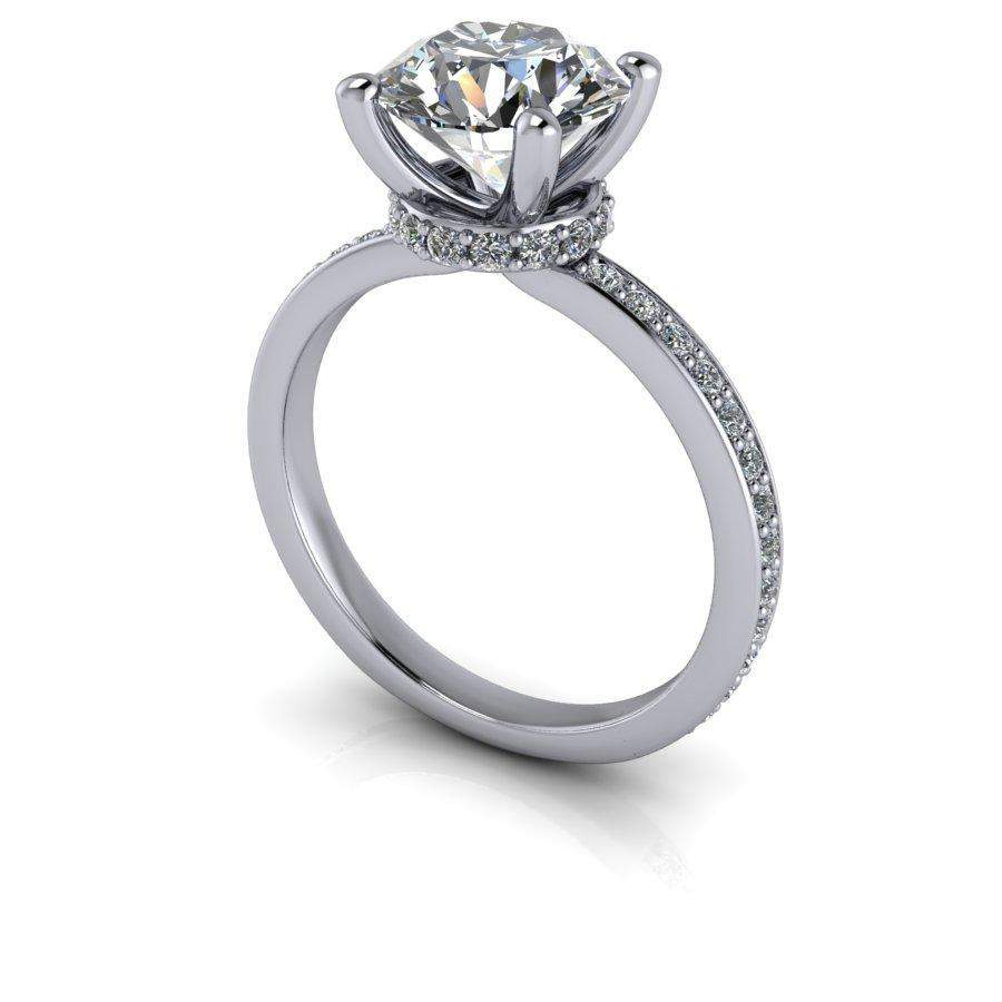 2.24 CTW Moissanite Engagement Ring - Round Stone-BVD