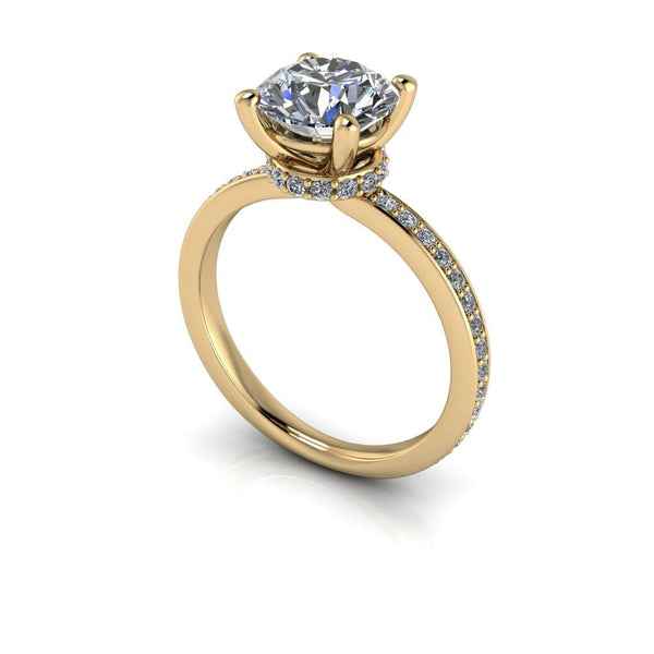 2.24 CTW Round Charles & Colvard Colorless Moissanite Engagement Ring-Bel Viaggio Designs