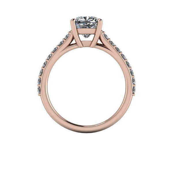 1.99 CTW Forever One Moissanite Cathedral Engagement Ring-BVD