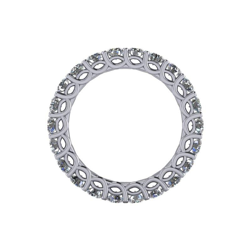 2.25 CTW Women's Eternity Band Forever One Moissanite Ring-BVD