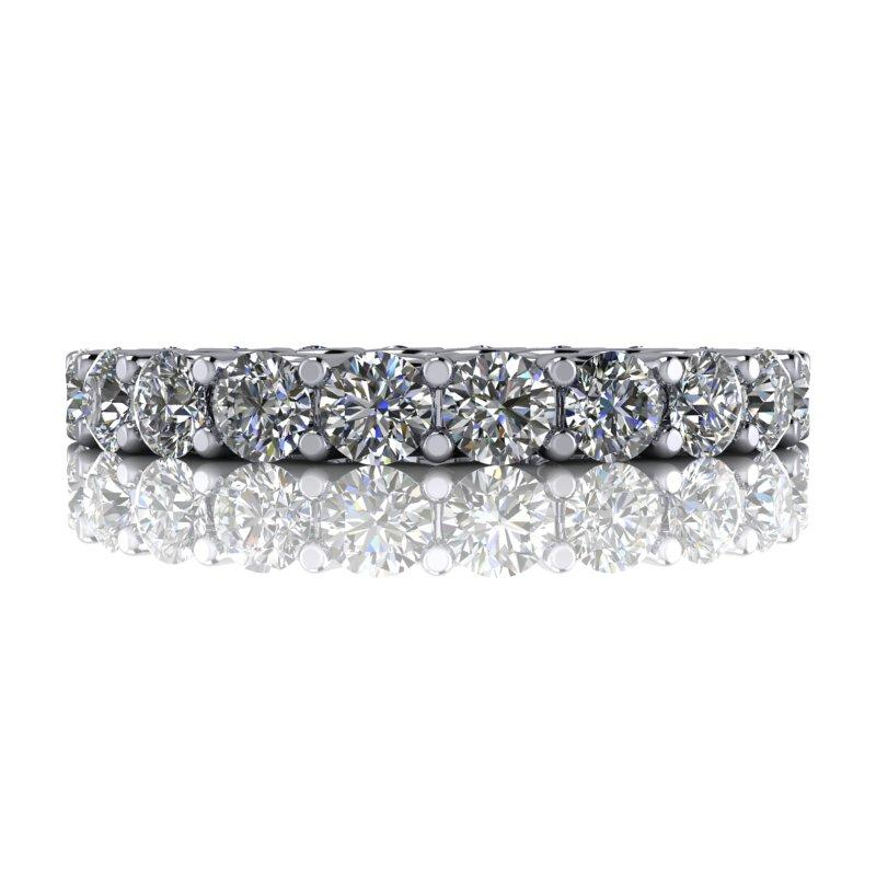 2.25 CTW Women's Eternity Band Forever One Moissanite Ring-Bel Viaggio Designs