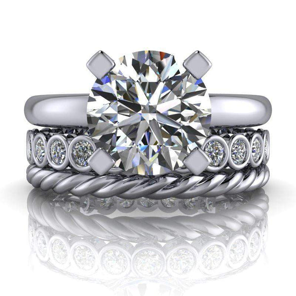 2.28 CTW Moissanite and Lab Grown Diamond Bridal Set-Bel Viaggio Designs