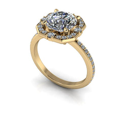 2.30 CTW Moissanite Halo Engagement Ring Round Stone-BVD