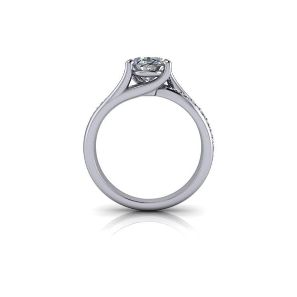 2.36 CTW Oval Moissanite Engagement Ring-Bel Viaggio Designs
