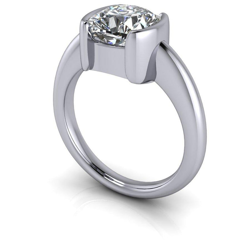2.40 CTW Cushion Cut Moissanite Solitaire Engagement Ring, DEF Color-Bel Viaggio Designs