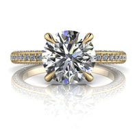 2.40 CTW Forever One Moissanite Bridal Set, Claw Prongs - Center Stone Options-Bel Viaggio Designs, LLC