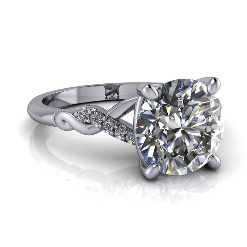 2.40 CTW Colorless Round Moissanite & Diamond Bridal Set-Bel Viaggio Designs