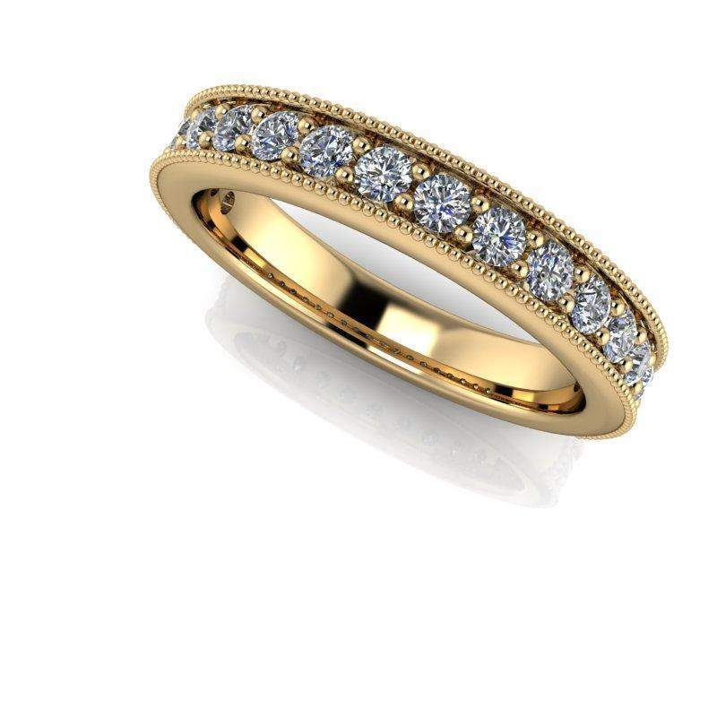 2.44 CTW Rope Band Engagement Ring, Stacking Wedding Bands - Insieme Bridal Stackables®-BVD