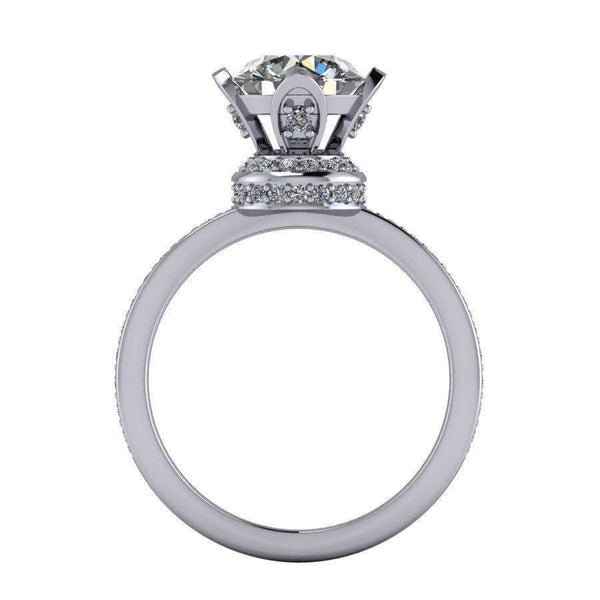 2.45 CTW Round Forever One Moissanite Split Shank Engagement Ring-Bel Viaggio Designs