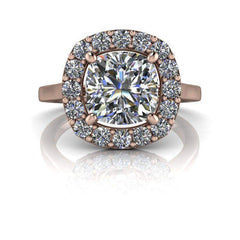 2.48 CTW Halo Engagement Ring - Forever One Colorless Moissanite Engagement Ring-Bel Viaggio Designs, LLC