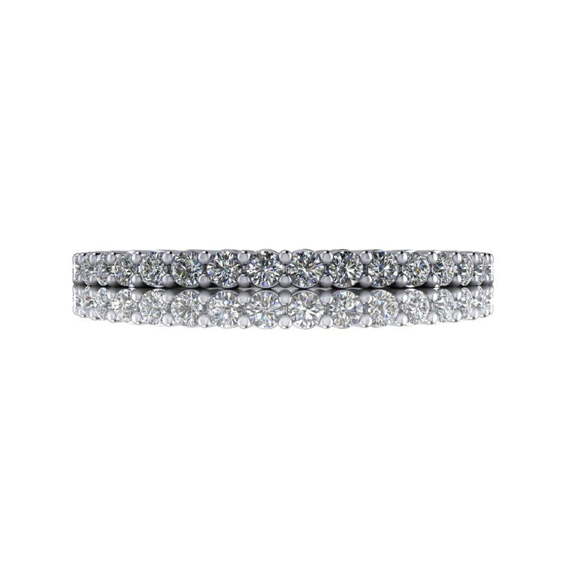 .25 CTW Thin Wedding Band Lab Grown Diamond Wedding Band-Bel Viaggio Designs