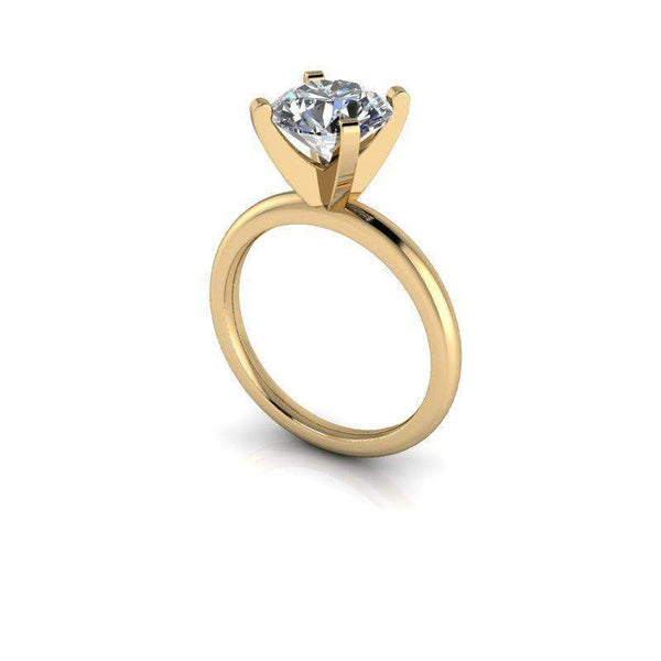 2.50 CTW Round Solitaire Engagement Ring, Moissanite Bridal Set, Insieme Bridal Stackables®-Bel Viaggio Designs