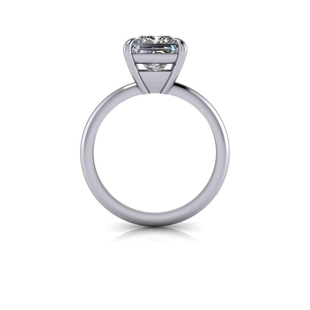 2.52 ctw Princess Cut Forever One Moissanite Engagement Ring/Set-Bel Viaggio Designs