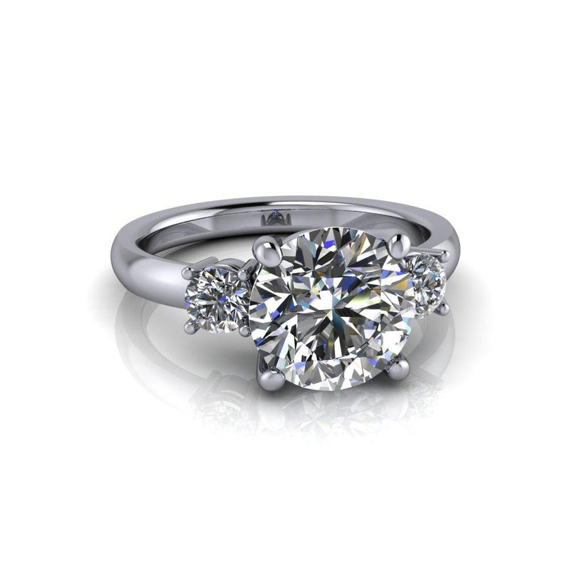 2.52 ctw Round Charles & Colvard Colorless Moissanite Engagement Ring-Bel Viaggio Designs