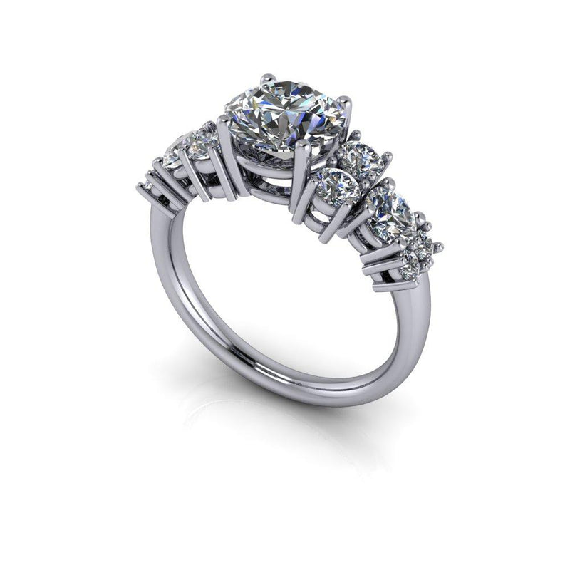 2.53 ctw Forever One Moissanite Anniversary Ring Engagement Ring-Bel Viaggio Designs