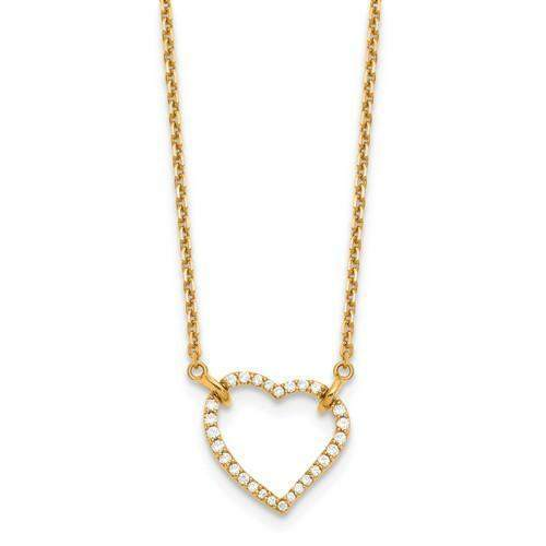 .26 ctw Diamond Heart Pendant - 14 kt Gold-Bel Viaggio Designs