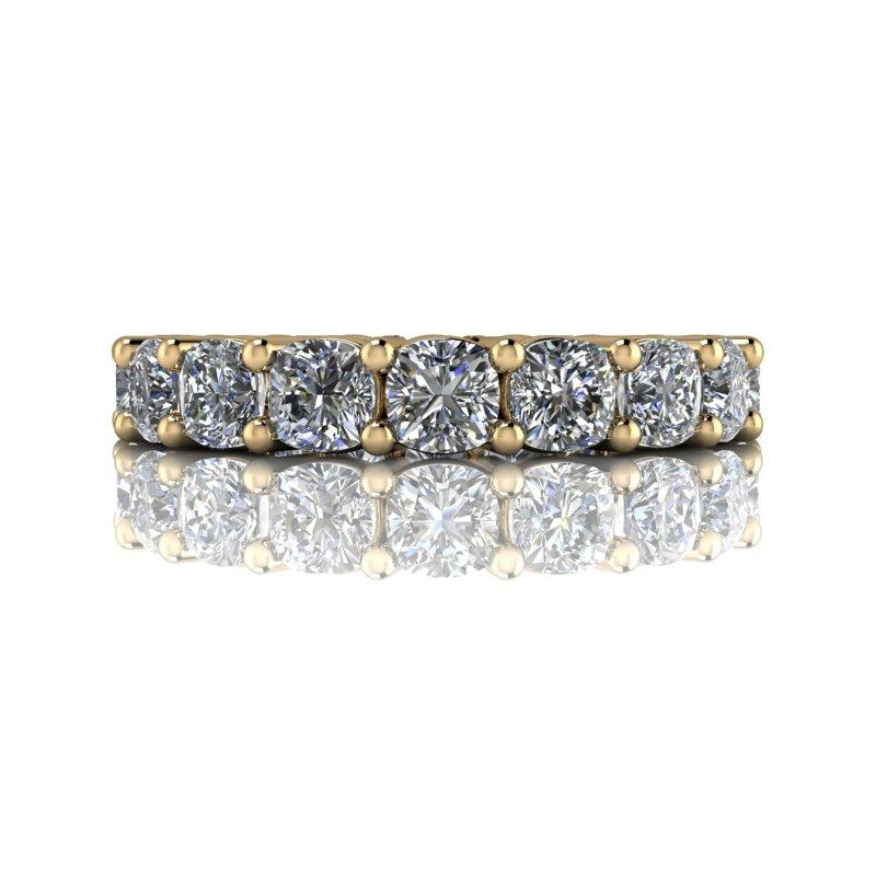 2.60 CTW Cushion Cut DEF Color Moissanite Anniversary Ring, Eternity Ring-Bel Viaggio Designs