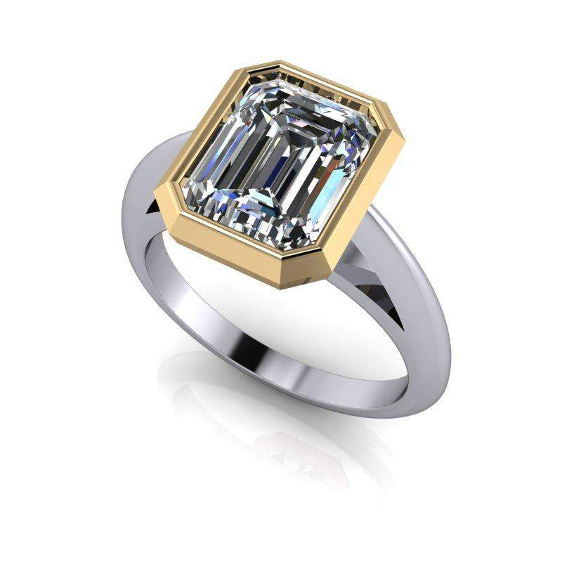 in ring white carat rings bridge sapphire engagement gold gemstone bezel