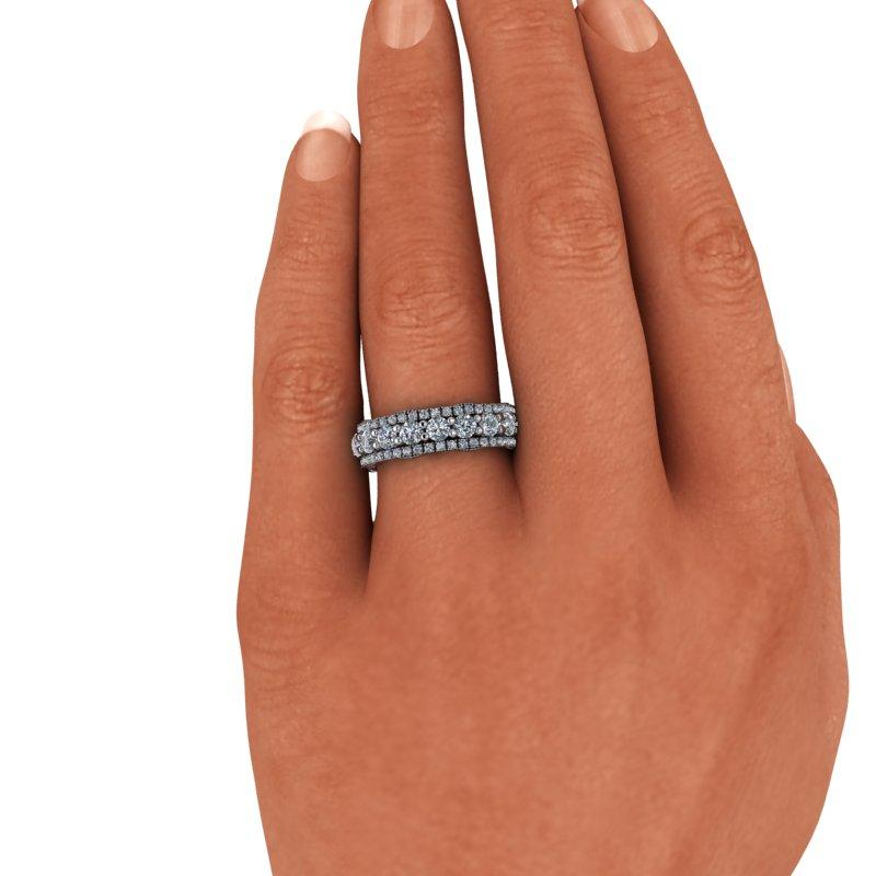 2.60 CTW Moissanite Anniversary Ring, Stacy K Opulence Collection-Bel Viaggio Designs