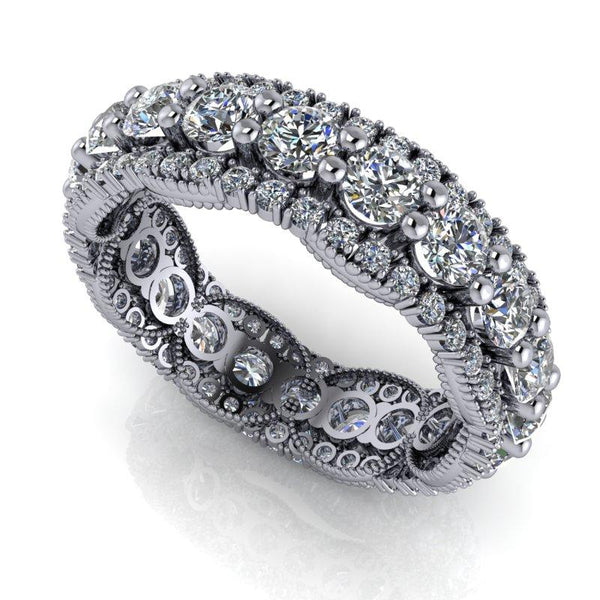 2.60 CTW Moissanite Anniversary Ring, Stacy K ~ Opulence Limited Edition Collection-BVD