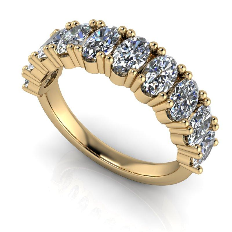 2.60 CTW Oval Anniversary Moissanite Ring-Bel Viaggio Designs, LLC