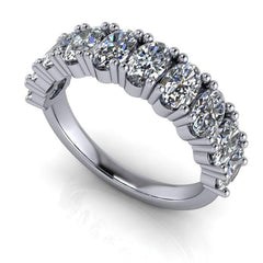 2.60 CTW Oval Anniversary Moissanite Ring-BVD