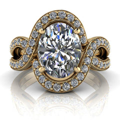 2.62 CTW Oval Forever One Moissanite Engagement Ring-Bel Viaggio Designs, LLC