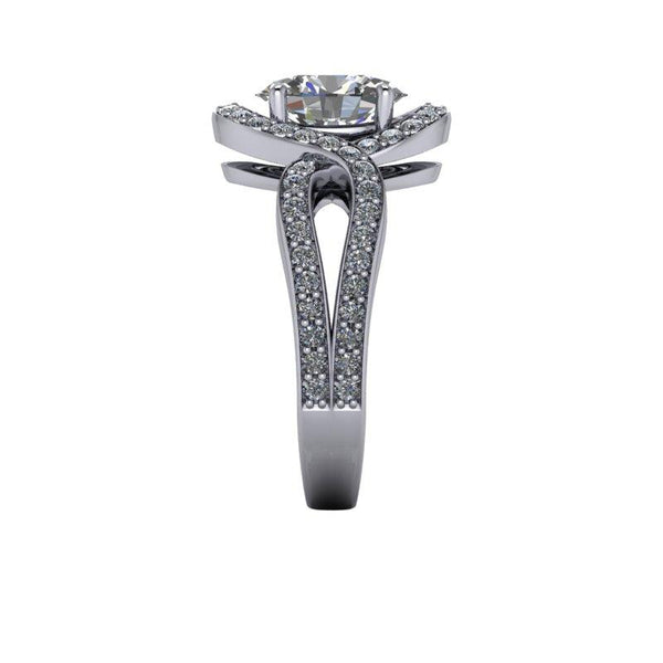2.62 CTW Oval Forever One Moissanite Engagement Ring-Bel Viaggio Designs
