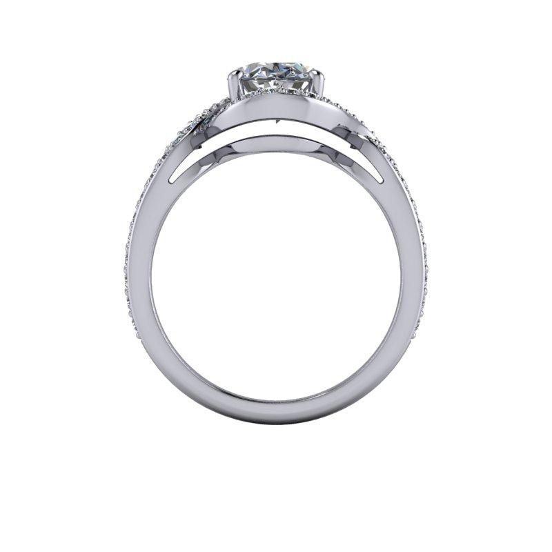 2.62 CTW Oval Forever One Moissanite Engagement Ring-BVD