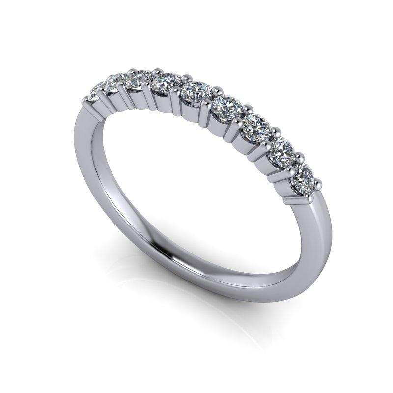 .27 CTW Women's Wedding Band Round Forever One Moissanite Ring-BVD