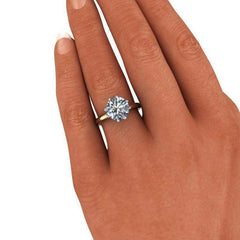 2.70 CTW Forever One Moissanite Solitaire Engagement Ring, Insieme Bridal Stackables®-Bel Viaggio Designs, LLC