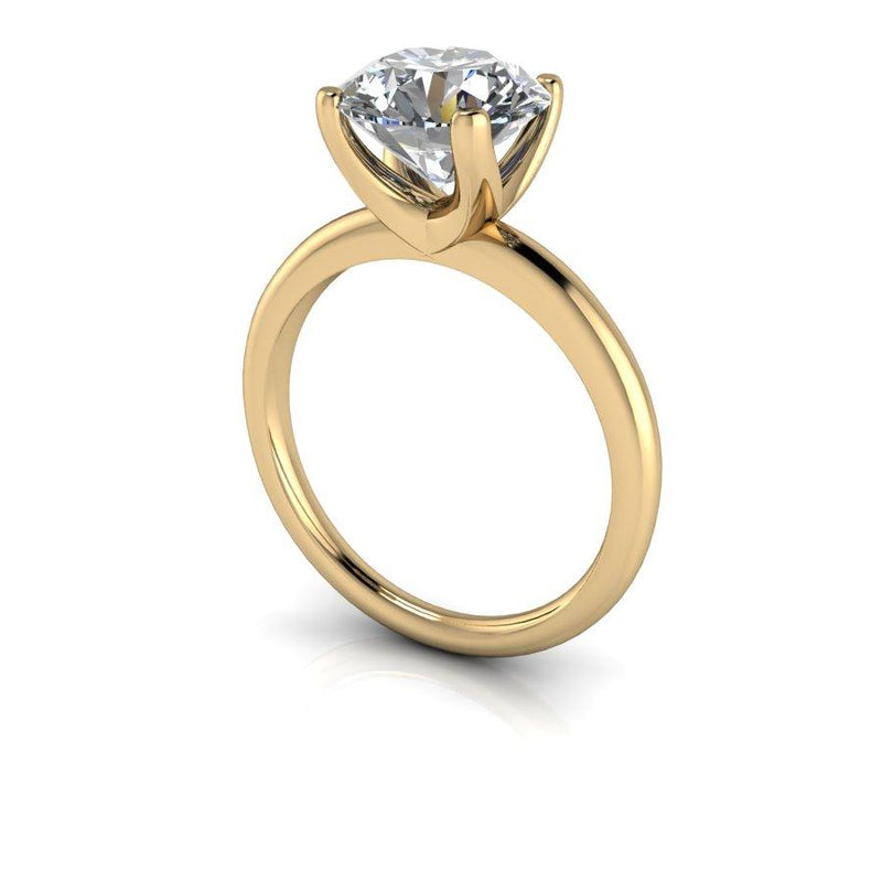 2.70 CTW Moissanite Solitaire Engagement Ring, DEF Color-Bel Viaggio Designs