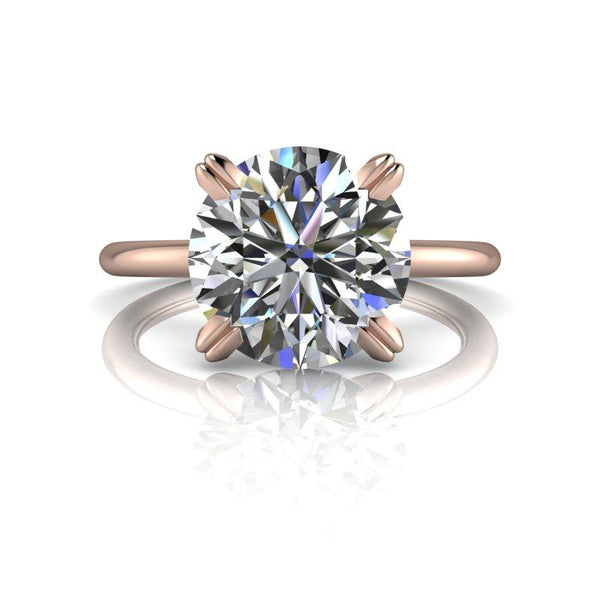 2.70 CTW Round Moissanite Engagement Ring, Insieme Bridal Stackables®-Bel Viaggio Designs