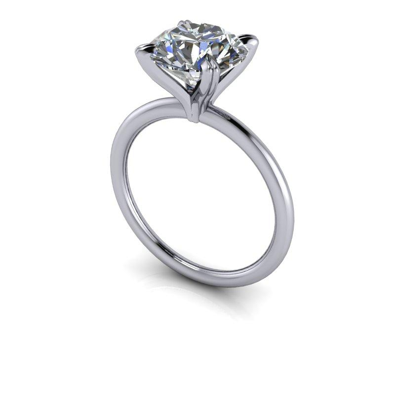 2.70 CTW Round Forever One Moissanite Ring, Insieme Bridal Stackables®-Bel Viaggio Designs, LLC