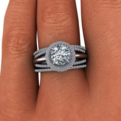 2.75 CTW Stacy K ~ Opulence Limited Edition Criss Cross Moissanite Ring-BVD