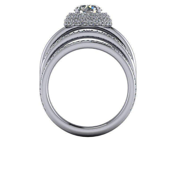 2.75 CTW Stacy K Opulence Criss Cross Moissanite Anniversary Ring/Engagement Ring-Bel Viaggio Designs