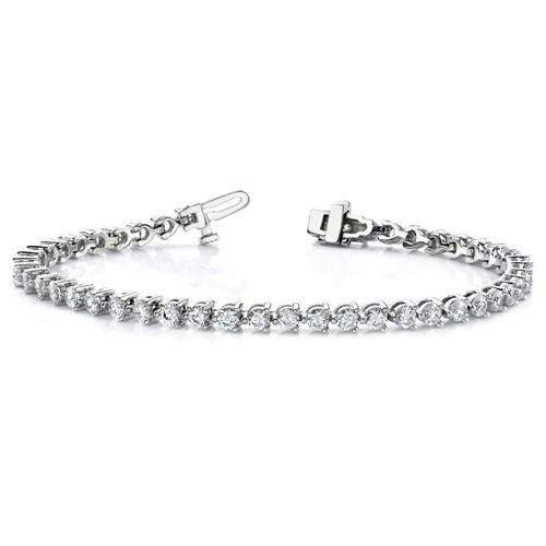 2.80 ctw Diamond Tennis Bracelet 14 kt Gold - Lab Grown Diamond Tennis Bracelet-BVD